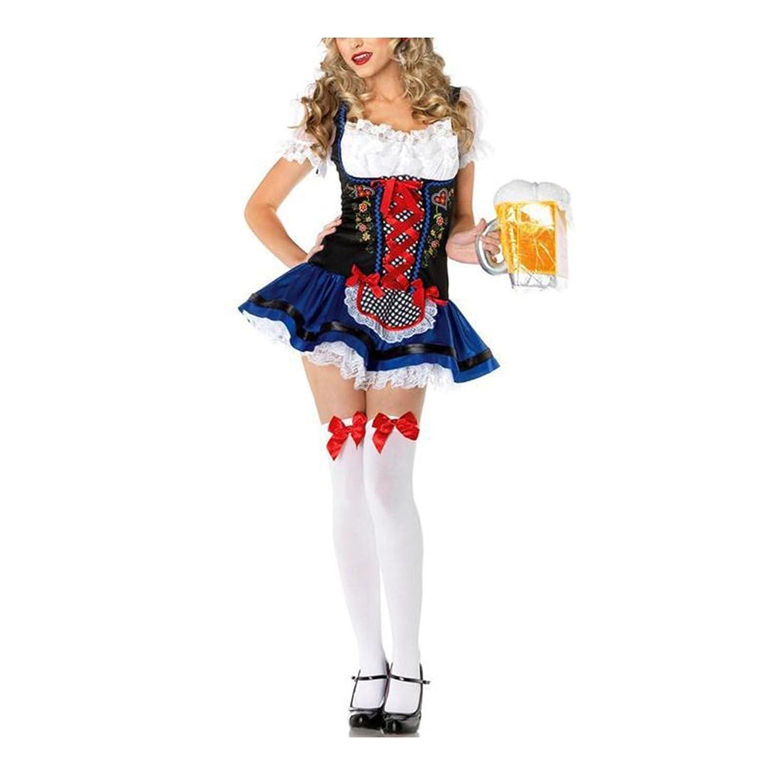 Dirndl Oktoberfest Schützenfest Trachtenkleid Kellnerin Dienstmaedchen Arbeitskleidung Sexy Cosplaysuit jetzt kaufen