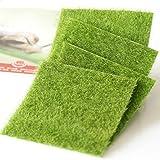 Shindel Fairy Artificial Grass, Artificial Garden Grass, Ornament Garden Dollhouse, 6''x 6'', 4 PCS (Color: Fairy Artificial Grass)
