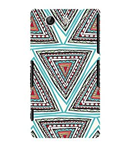 ifasho Designer Phone Back Case Cover Sony Xperia Z4 Compact :: Sony Xperia Z4 Mini ( Black White Orange Colorful Pattern Design )