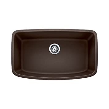 Blanco 441613 Valea Super Undermount Single Bowl Kitchen Sink, Large, Cafe Brown