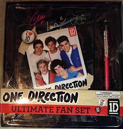 One Direction 1d Ultimate Fan Set Rhinestone Pen with Fan Book & Stickers - 1