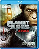 猿の惑星:創世記(ジェネシス)+猿の惑星:新世紀(ライジング) ブルーレイセット(2枚組)(初回生産限定) [Blu-ray]