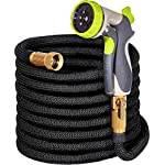 50ft Garden Hose - ALL NEW 2017 Expandable Water Hose with Double Latex Core, 3/4