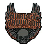Harley-Davidson Gothic Winged Skull Embroidered Emblem, 3XL Size Patch EM108307 (Color: Black, Tamaño: 10.375