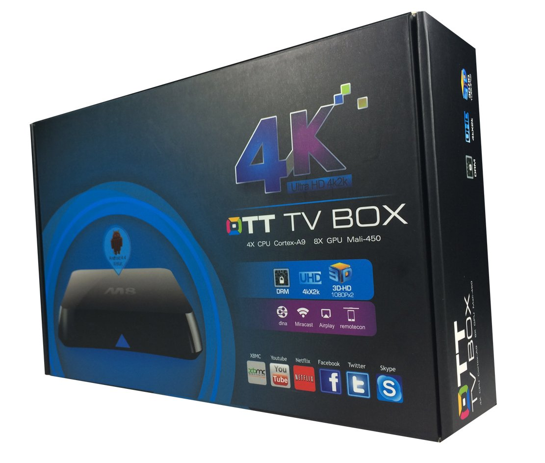 AIBoTek TV Box M8FC with Fly Mouse HDMI 4K Resolution (4K2K) Ultra HD Streaming Media Player