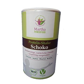 Martha Protein Shake Schoko - bio, vegan, glutenfrei, sojafrei, laktosefrei, ohne Chemie, ohne Industriezucker - 450g