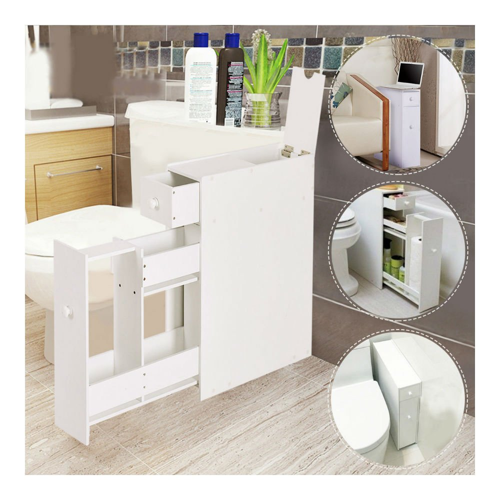 How Much To Have A Bathroom Fitted: Narrow Wood Floor Bathroom Storage Cabinet Holder