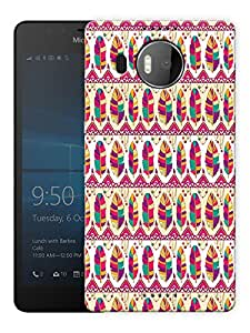 """Humor Gang Feathers Indian Ethnic Pattern Printed Designer Mobile Back Cover For """"Nokia Lumia 950 XL"""" (3D, Matte, Premium Quality Snap On Case)"""