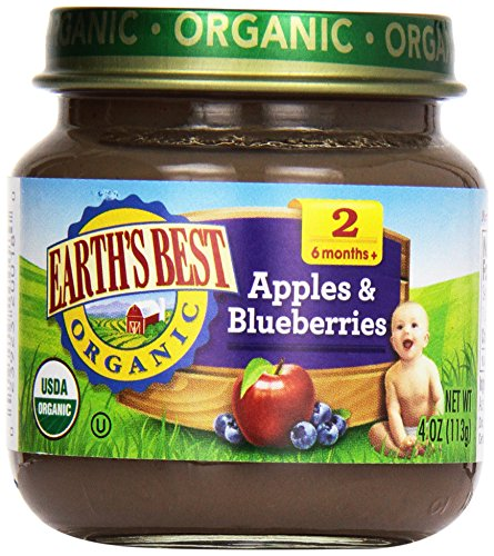 Earth'S Best, Apples And Blueberry, 4 Oz front-1001500