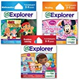 LeapFrog Explorer Disney Junior Learning Game Bundle for Kids Age 3-5 Years Old