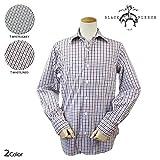 (ブラックフリース)BLACK FLEECE シャツ 長袖 BB1 WHITE/GREY (並行輸入品)