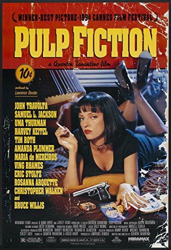 """Pulp Fiction"" Movie Poster (1994, Quentin Tarantino, John Travolta, Samuel Jackson L., Uma Thurman), Carta, A2"