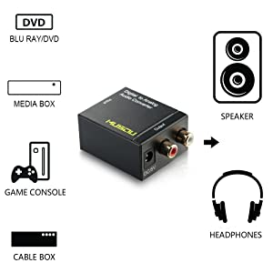 Musou Digital Optical Coax to Analog RCA Audio Converter Adapter