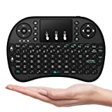 2.4G Wireless Mini Keyboard Remote Control Touchpad for Android TV Box Laptop US (Color: Black)