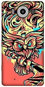 The Racoon Grip Hockey Owl hard plastic printed back case/cover for Microsoft Lumia 950