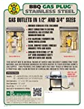 Burnaby Manufacturing BBQ-SS-50 Gas Outlet Box with 1/2-Inch Inlet 1/2-Inch Outlet and Stainless Steel Enclosure