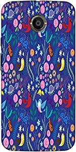 Snoogg Bird Floral Patterns Case Cover For Moto X 2Nd Generation