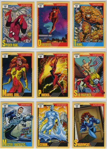 1991 Impel Marvel Universe Series-II 162-Card New Complete Base Set in Collector Pages (Psylocke Marvel Universe compare prices)