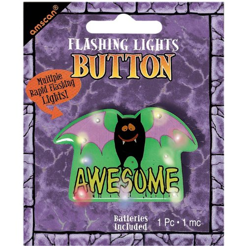 Awesome Flashing Lights Metal Button - 1