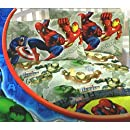 4pc Marvel Heroes Attack Comics Full Bedding Sheet Set