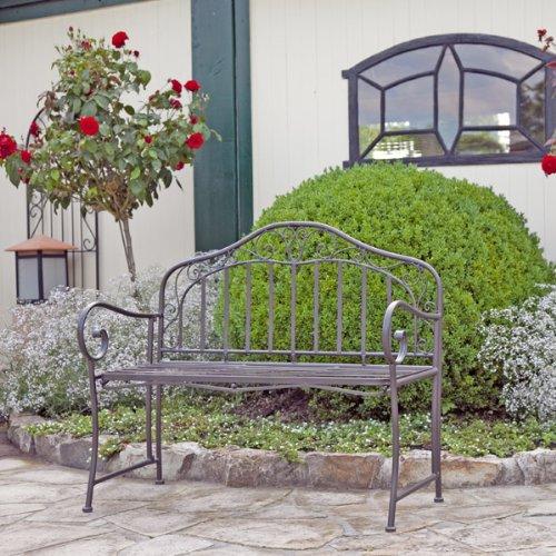 gartenbank eisen metallbank bank metall 2 sitzer 110cm neu. Black Bedroom Furniture Sets. Home Design Ideas