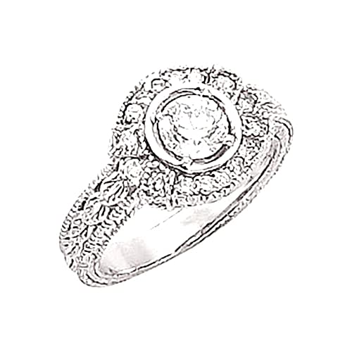0.74 CT real diamond engagement ring HIGH BRILLIANCE