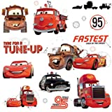 RoomMates RMK2533SCS Cars Friends to The Finish Peel and Stick Wall Decals