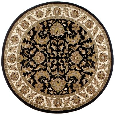 Traditions Isphan Round Rug, 6-Feet by 6-Feet, Beige