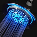 DreamSpa� All-Chrome Water Temperature Color-Changing LED Shower Head / SPECIAL HOLIDAY PRICE!