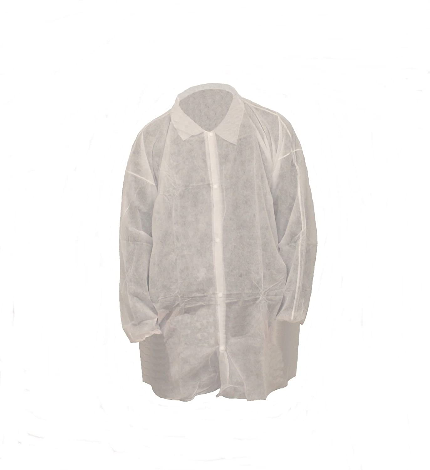 Keystone Disposable Lab Coat, Snap Button Front, Elastic Wrist, Size: 2XL, Case of 30 5pcs lot high quality 2 pin snap in on off position snap boat button switch 12v 110v 250v t1405 p0 5