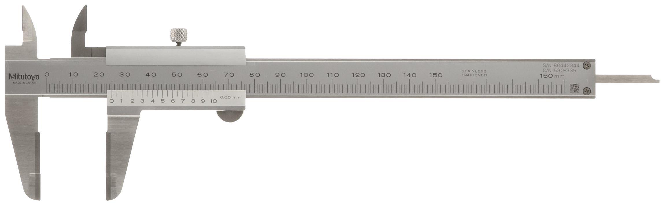 Thickness of tooth measured using digital vernier caliper.