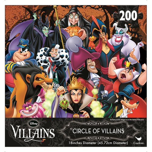 Disney Lenticular Circle of Villains 200 Piece Puzzle - 1