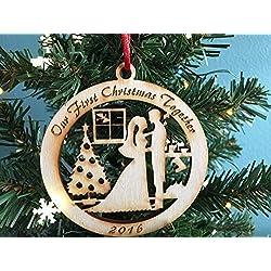 Bride and Groom First Christmas Together 2016 - Christmas Ornament, Newlywed Christmas