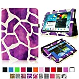 Fintie Slim Fit Folio Case Cover For Samsung Galaxy Note 10.1 Inch Tablet N8000 N8010 N8013 - Giraffe Purple