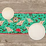 Elephant Bath-Poly Velvet-13x72inch-Premium-Table Runner