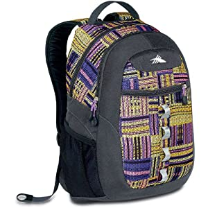 High Sierra Opie Backpack, Purple Pattern, 18.5x12.5x8.5-Inch