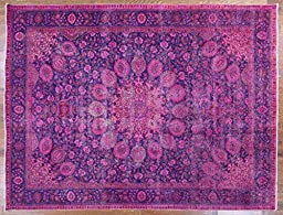 10\'x13\' Oriental Handmade Overdyed Veg Dyed Hand Knotted Wool Area Rug W232