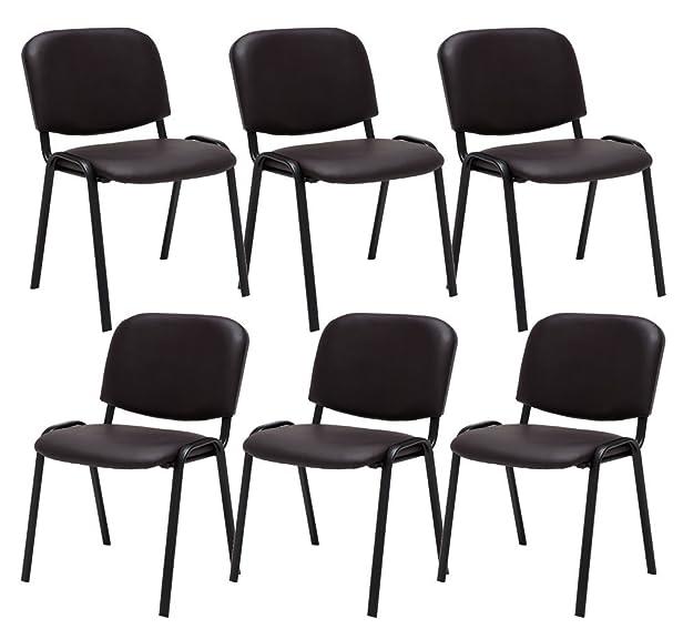 6th set sedia da attesa Ken Kunstleder marrone