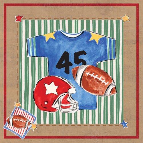 """Art 4 Kids """"Football Jersey"""" Mounted Art Print, 18""""X18"""" front-766027"""