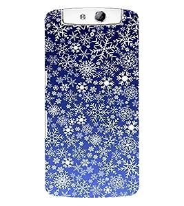 Fuson 3D Printed Pattern Wallpaper Designer Back Case Cover for Oppo N1 - D878