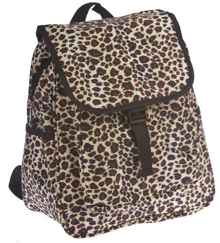 World Traveler Leopard 14-Inch Multipurpose Backpack