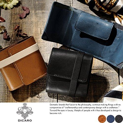 (ディカロ) Dicaro 隠れ迷彩柄三つ折り財布 Bellico メンズ 本革 イタリアンレザー 小銭入れあり キャメル