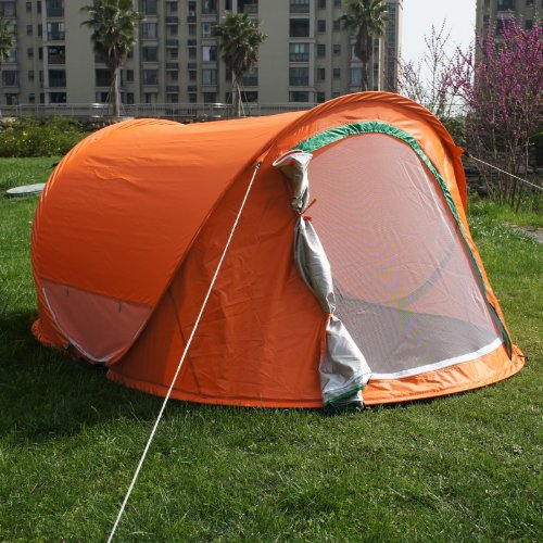 Orange Color Large Pop Up Backpacking Camping