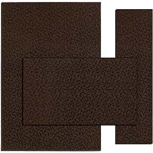 Amazon KItchen 3 Piece Rug Set Chocolate