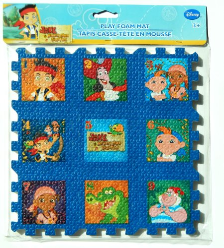 "Jake and The Never Land Pirates Foam 9""x9"" Puzzle - 1"