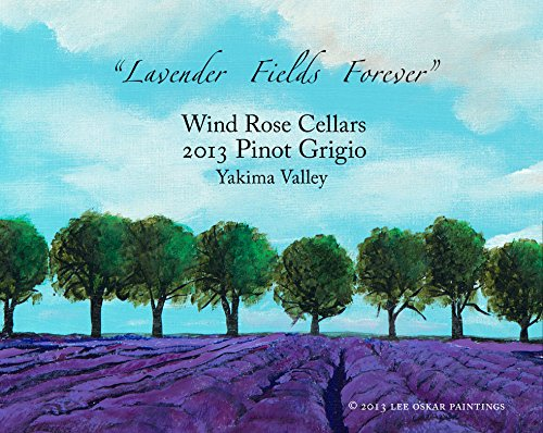 "2013 Wind Rose Cellars ""Lavender Fields Forever"" Pinot Grigio 750 Ml"