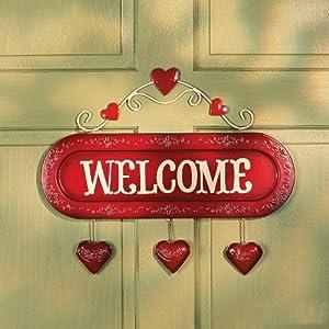 Valentine Welcome Sign - Valentine's Day Decor