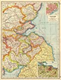 SCOTLAND SOUTH EAST:Borders Lothian Fife Tayside.Dundee Edinburgh plan 1920 map