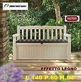 Cassapanca Garden Bench Beige Keter