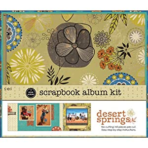 "SEI 1 Hour Album Scrapbook Kit 8""X8""-Desert Springs"